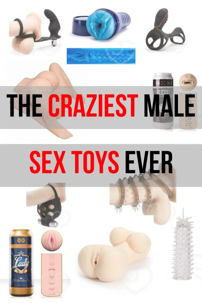 collection of crazy male sex toys
