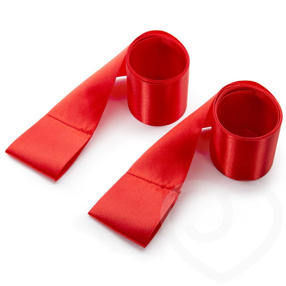 red silk bondage restraints