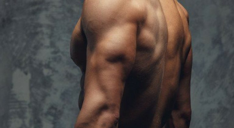 man with muscular body