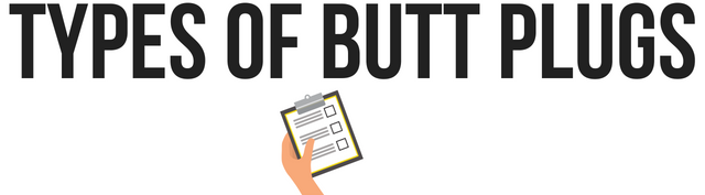 different types of butt plugs