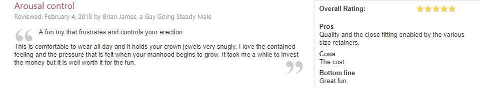 lovehoney review of cock cage