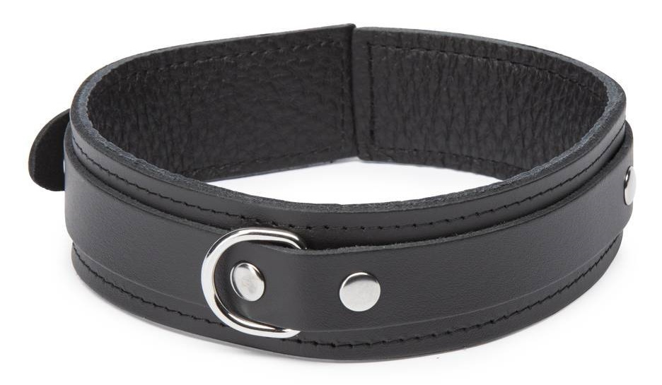 soft leather bondage collar