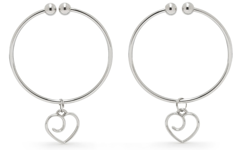 gentle nipple clamps with love heart charm