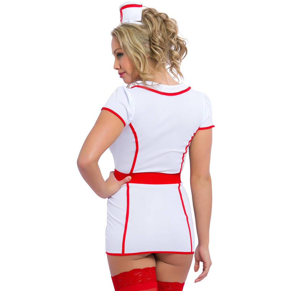 woman in sexy nurse outfit