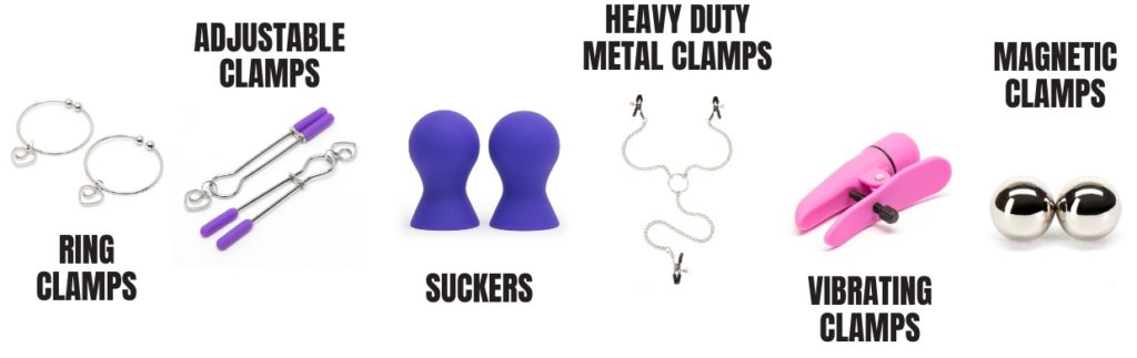 types of nipple clamps