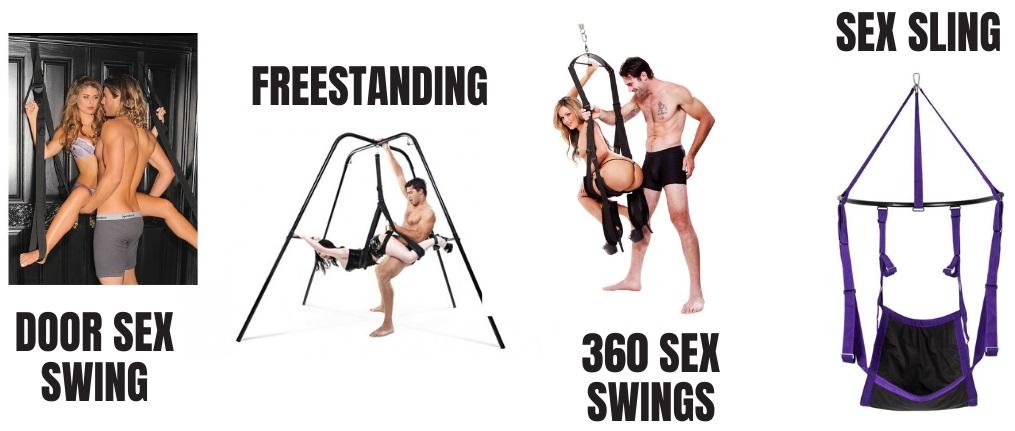 types of sex swings